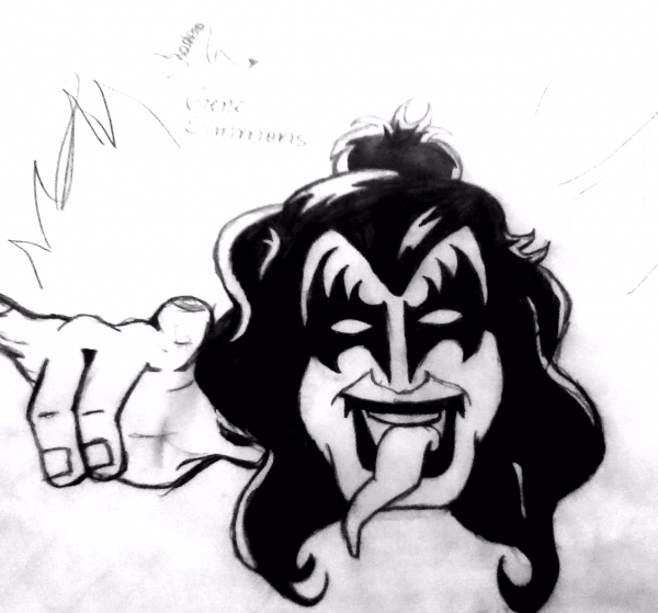 Gene Simmons by Isadora
